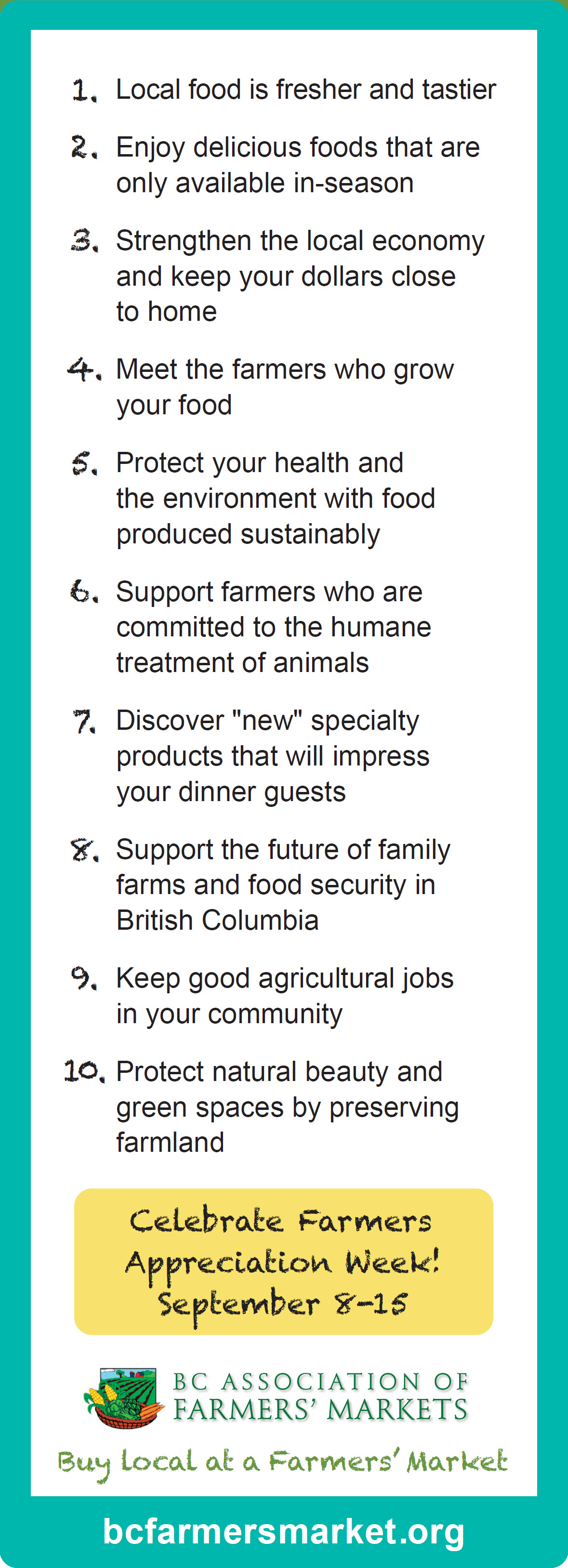 Top 10 reasons to buy local