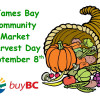 Come Celebrate Harvest Day with the James Bay Community Market – September 8th!