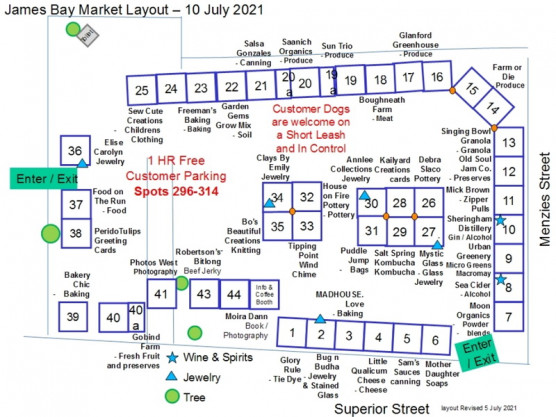 Saturday, July 10th – 9 am to 3 pm – The place to be is the James Bay Community Market