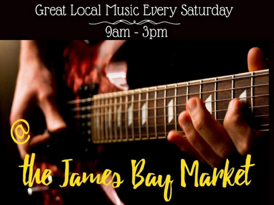 <center>Saturday September 25th the James Bay Community Market is the place to be for great local music. </center>
