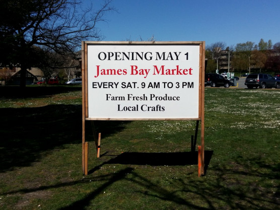 Saturday – May 1st, the James Bay Community Market is a go!