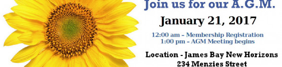 Notice of the Annual General Meeting of the James Bay Market Society