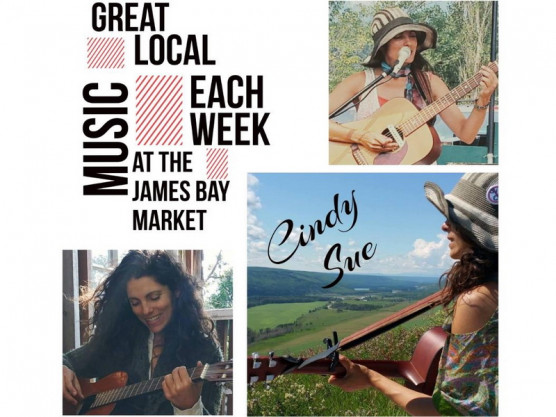 The James Bay Community Market, food, produce, crafts and music for everyone to enjoy.